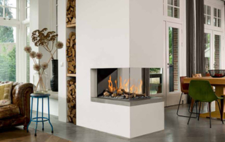 3-sided room divider fireplace by BellFires